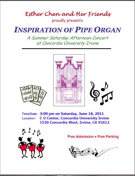 Inspiration of Pipe Organ